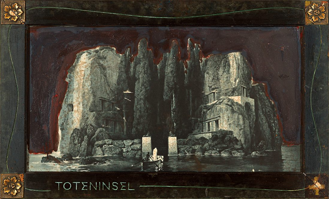 Die totenisel Arnold Böcklin,fündstuck Bergen 1985
