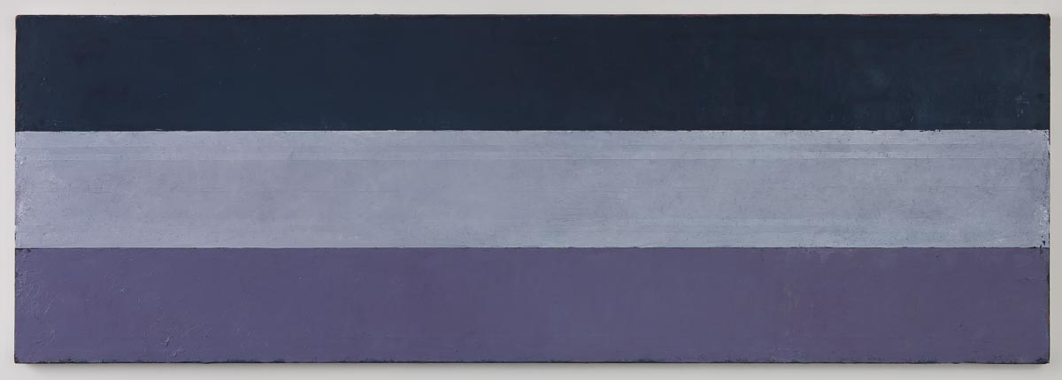 Direction Sea Variation III, Hommage á Plimsoll, 2015-16, olje på lerret, 66,5 x 200 cm